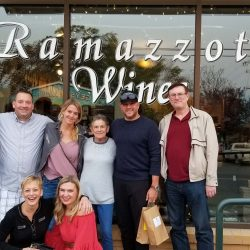 Ramazzotti guests in front of tasting room