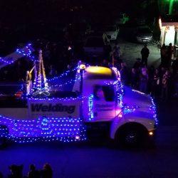 Ramazzotti truck in light parade