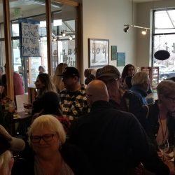Crowded tasting room