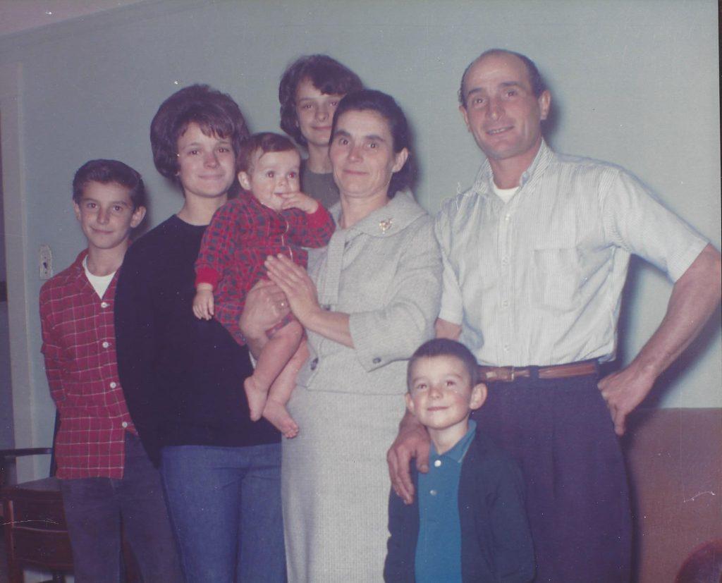 Joe (Giuseppe) Ramazzotti, his mother, Yolanda, father, Germano, and two sisters, Maria Lucia and Romana